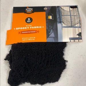 Black Spooky Fabric